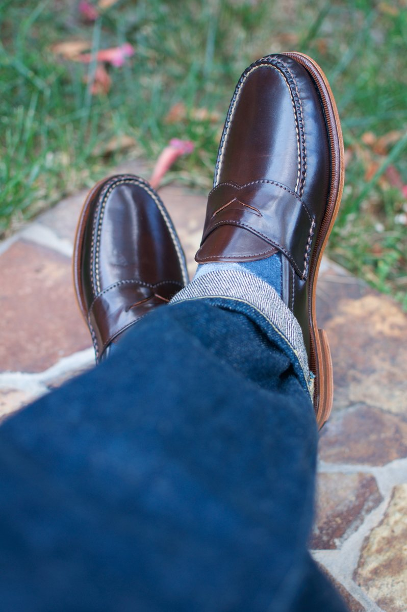 Rancourt Brown Shell Cordovan Penny Pinch Loafers - 2020-05-15 - 4.jpg