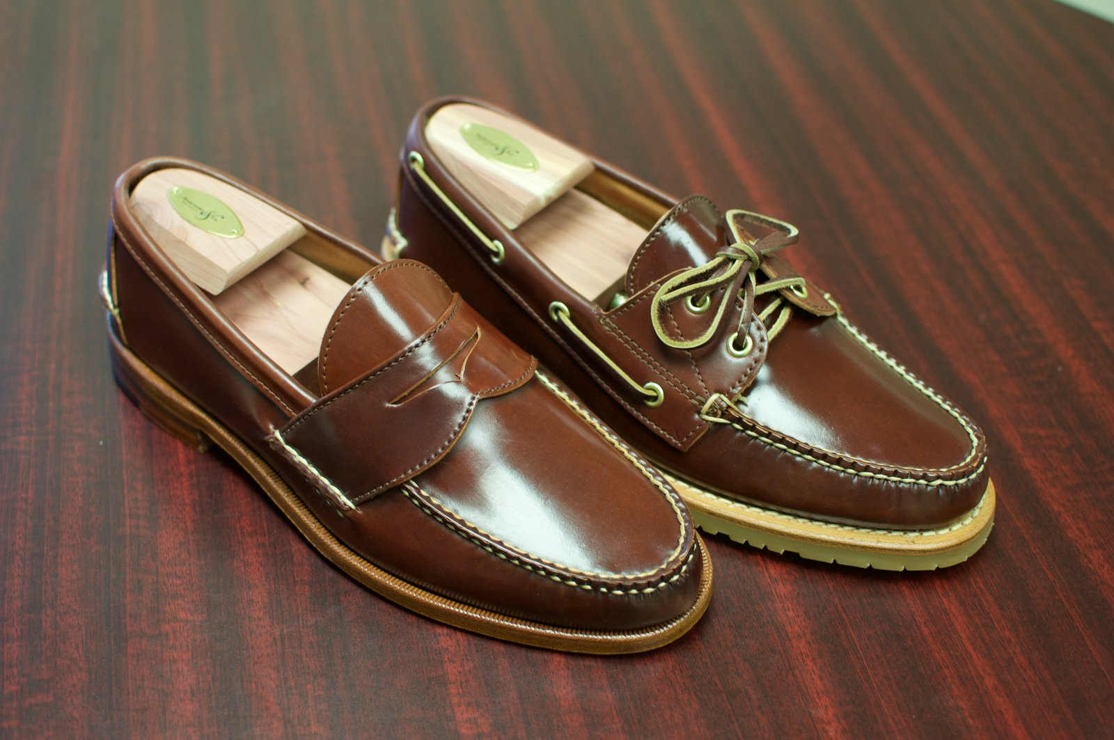Rancourt Color #4 Shell Cordovan Loafers - 3.jpg