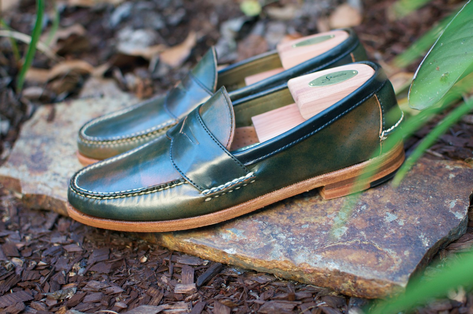 Rancourt Marbled Black Shell Cordovan Penny Pinch Loafers - 2020-07-10 - 2.jpg