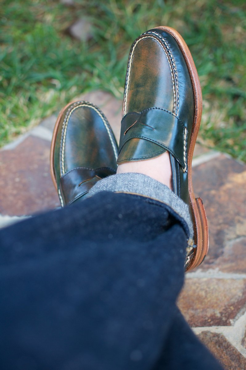 Rancourt Marbled Black Shell Cordovan Penny Pinch Loafers - 2020-07-10 - 5.jpg