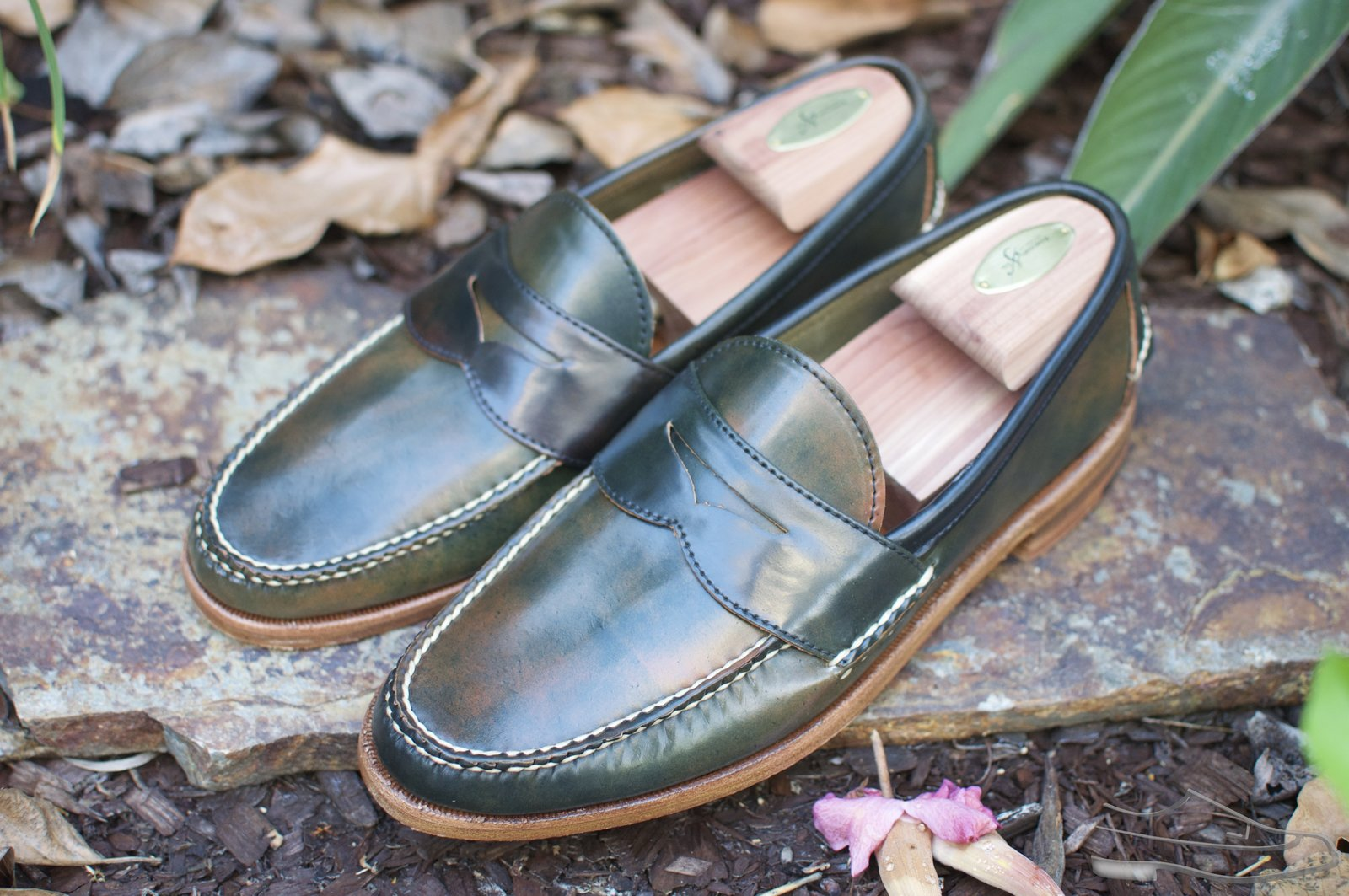 Rancourt Marbled Black Shell Cordovan Penny Pinch Loafers - 2020-08-28 - 1.jpg