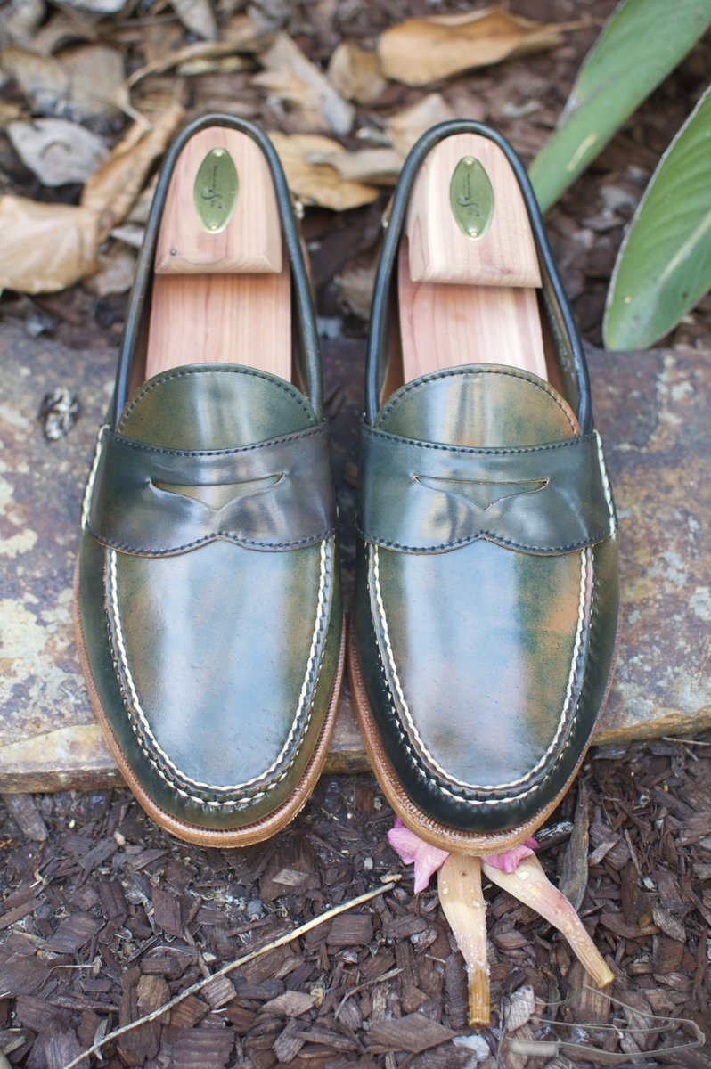 Rancourt Marbled Black Shell Cordovan Penny Pinch Loafers - 2020-08-28 - 5.jpg