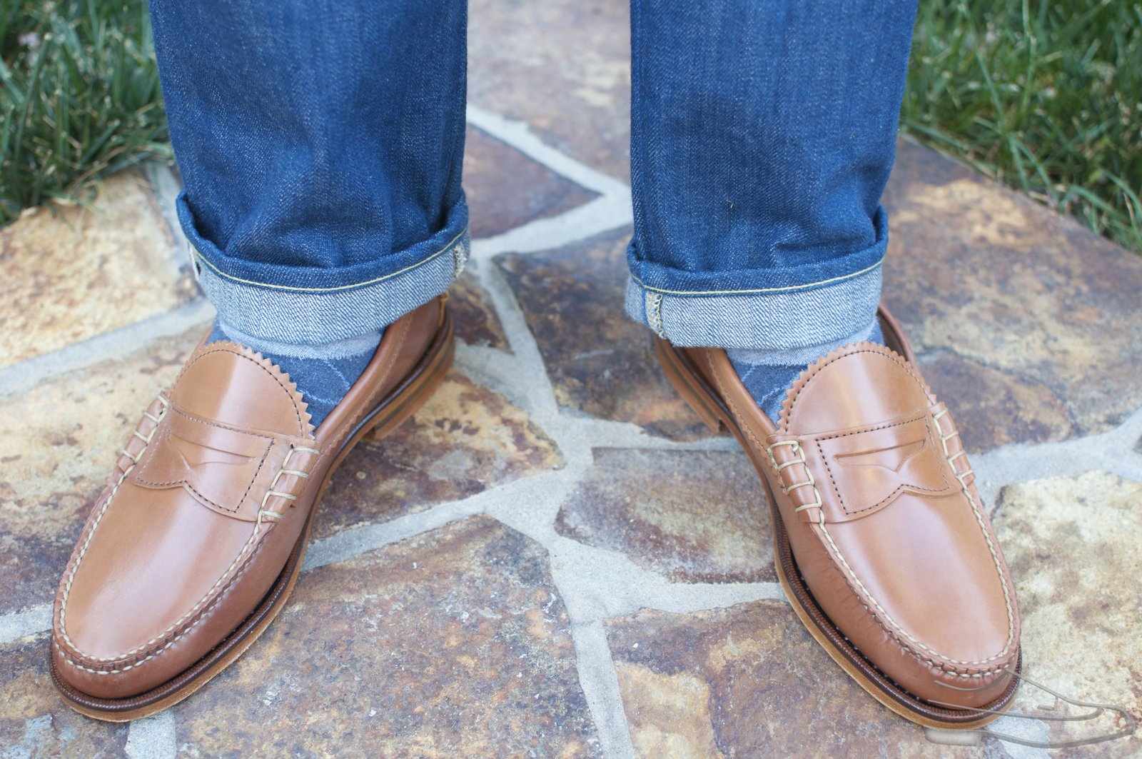 Rancourt Natural Shell Cordovan Beef-Roll Loafers - 2021-05-25 - 12.jpg