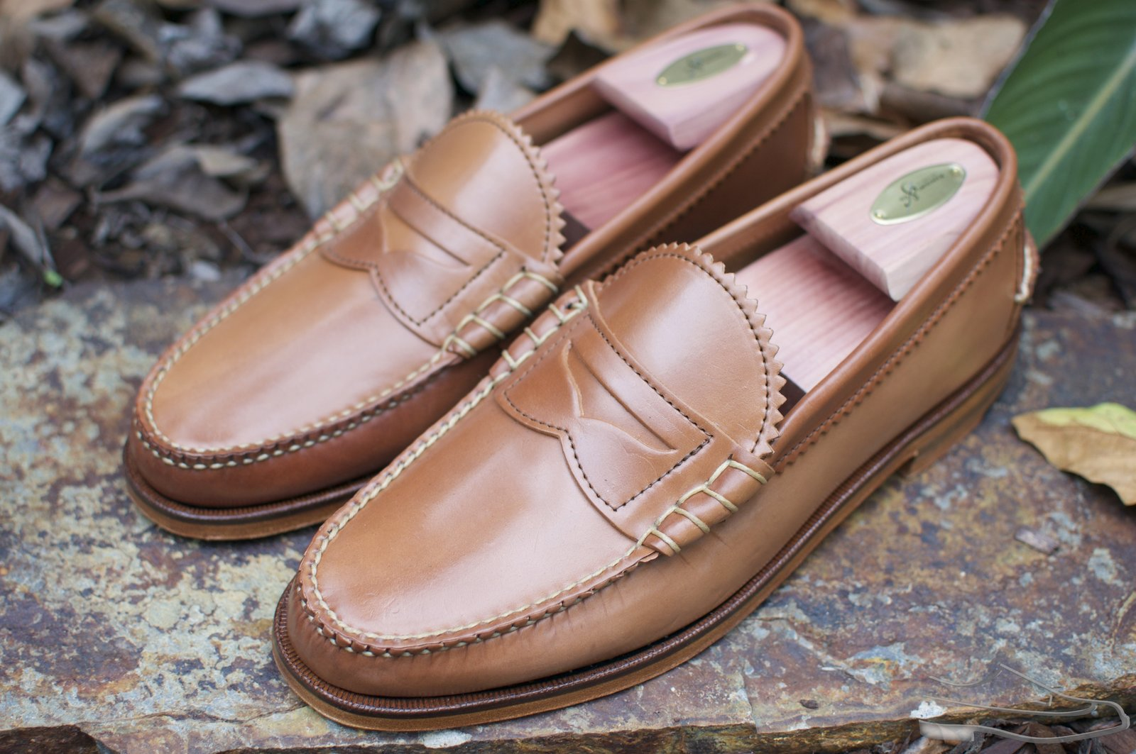 Rancourt Natural Shell Cordovan Beefroll Loafer - 2.jpg