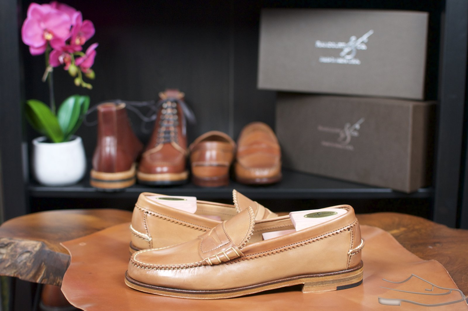 Rancourt Natural Shell Cordovan Beefroll Loafer - 32.jpg