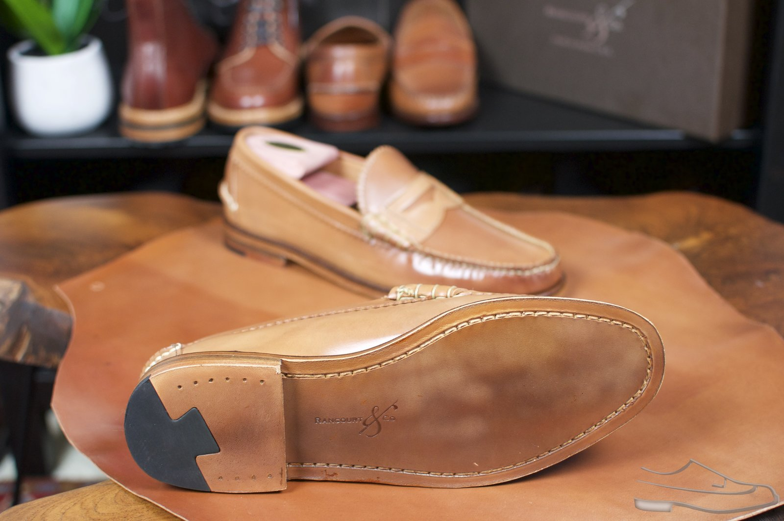 Rancourt Natural Shell Cordovan Beefroll Loafer - 43.jpg