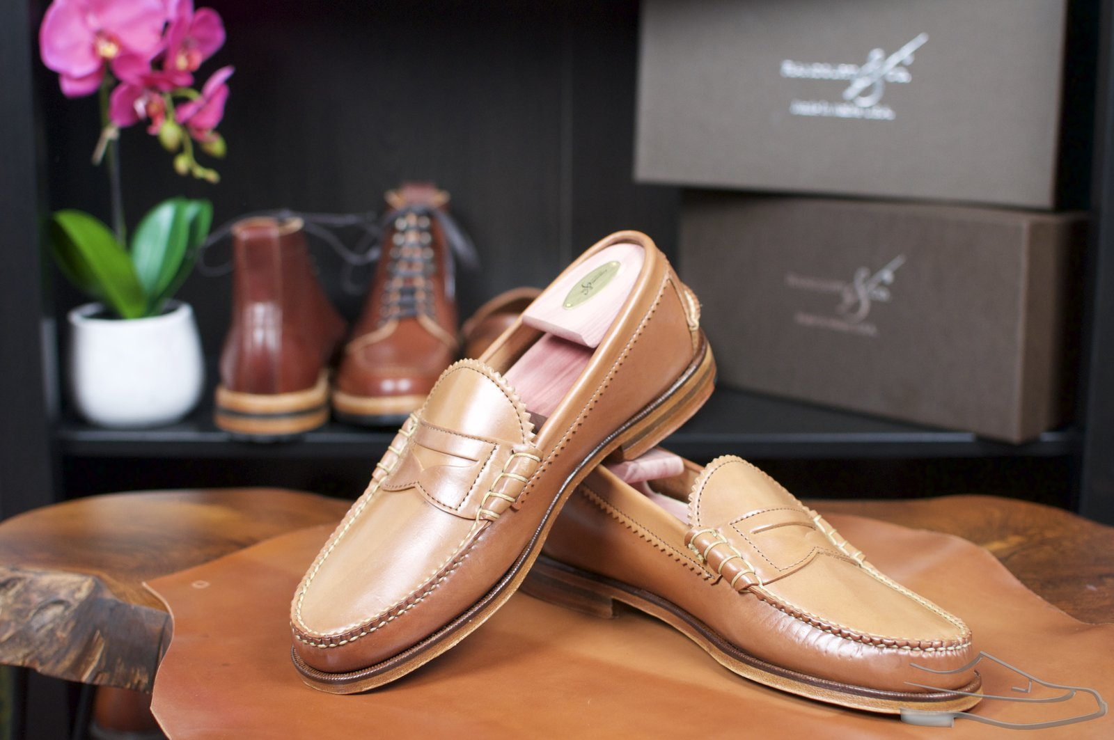 Rancourt Natural Shell Cordovan Beefroll Loafer - 46.jpg
