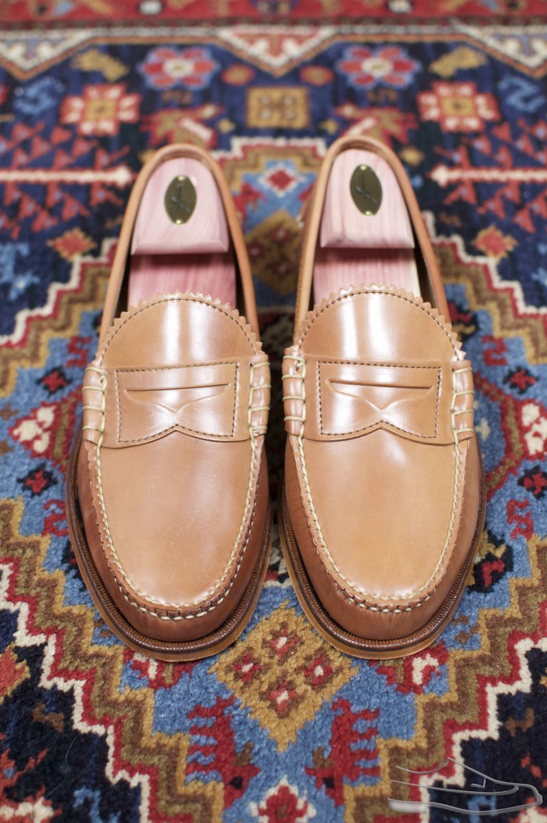Rancourt Natural Shell Cordovan Beefroll Loafer - 58.jpg