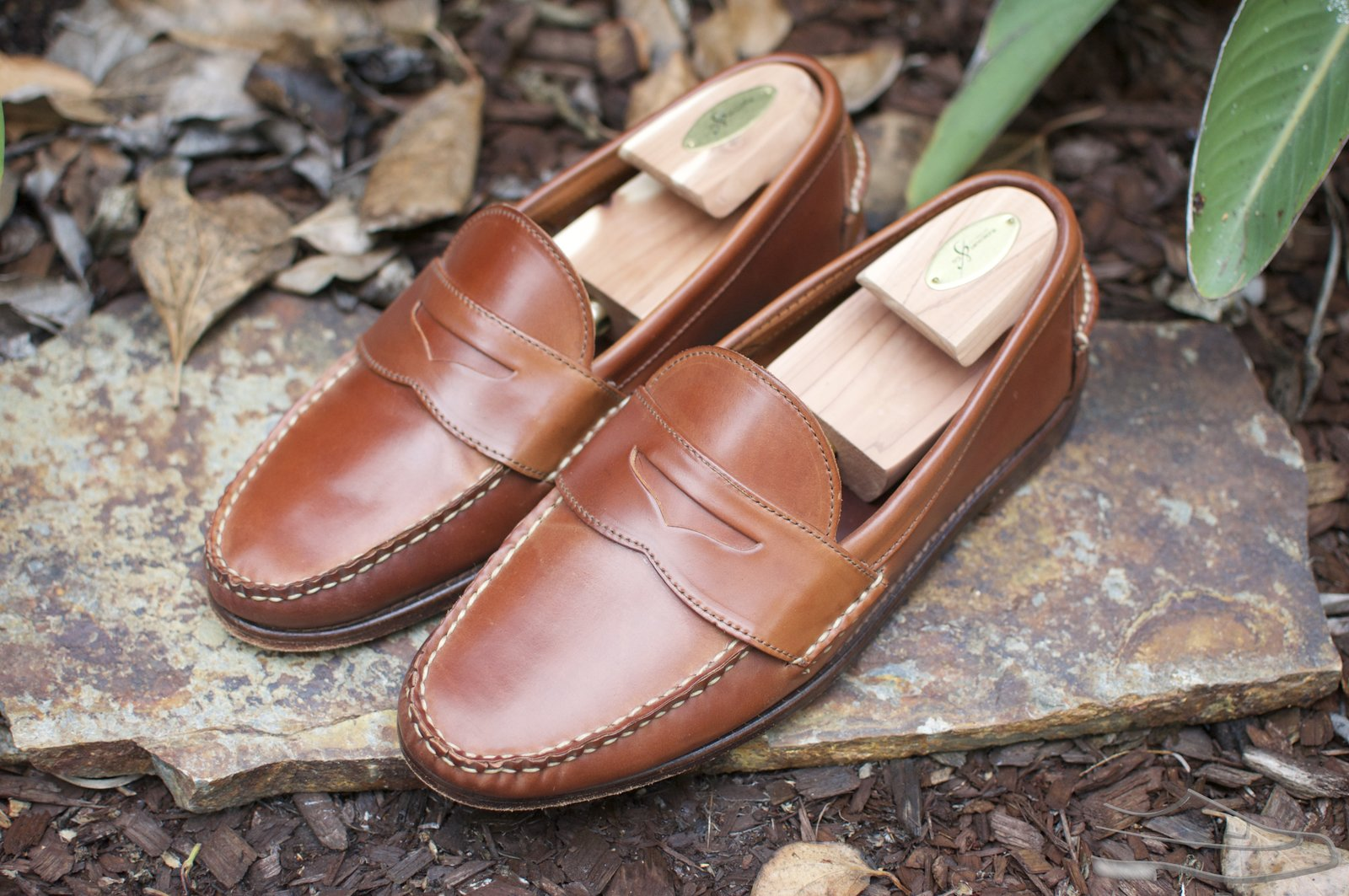 Rancourt Natural Shell Cordovan Penny Pinch Loafers - 2020-08-14 - 1.jpg