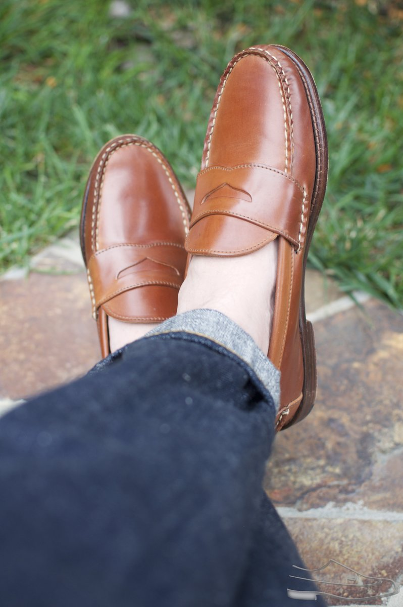 Rancourt Natural Shell Cordovan Penny Pinch Loafers - 2020-08-14 - 4.jpg