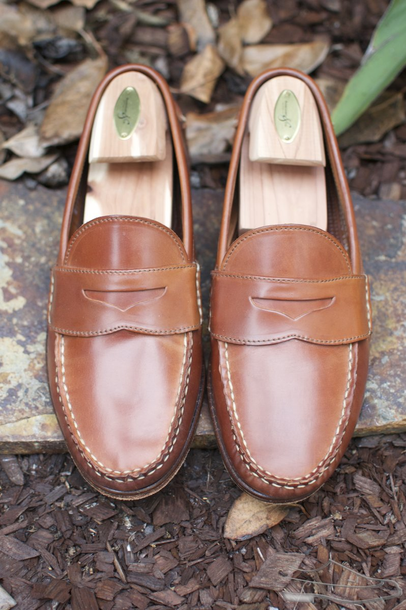 Rancourt Natural Shell Cordovan Penny Pinch Loafers - 2020-08-14 - 5.jpg