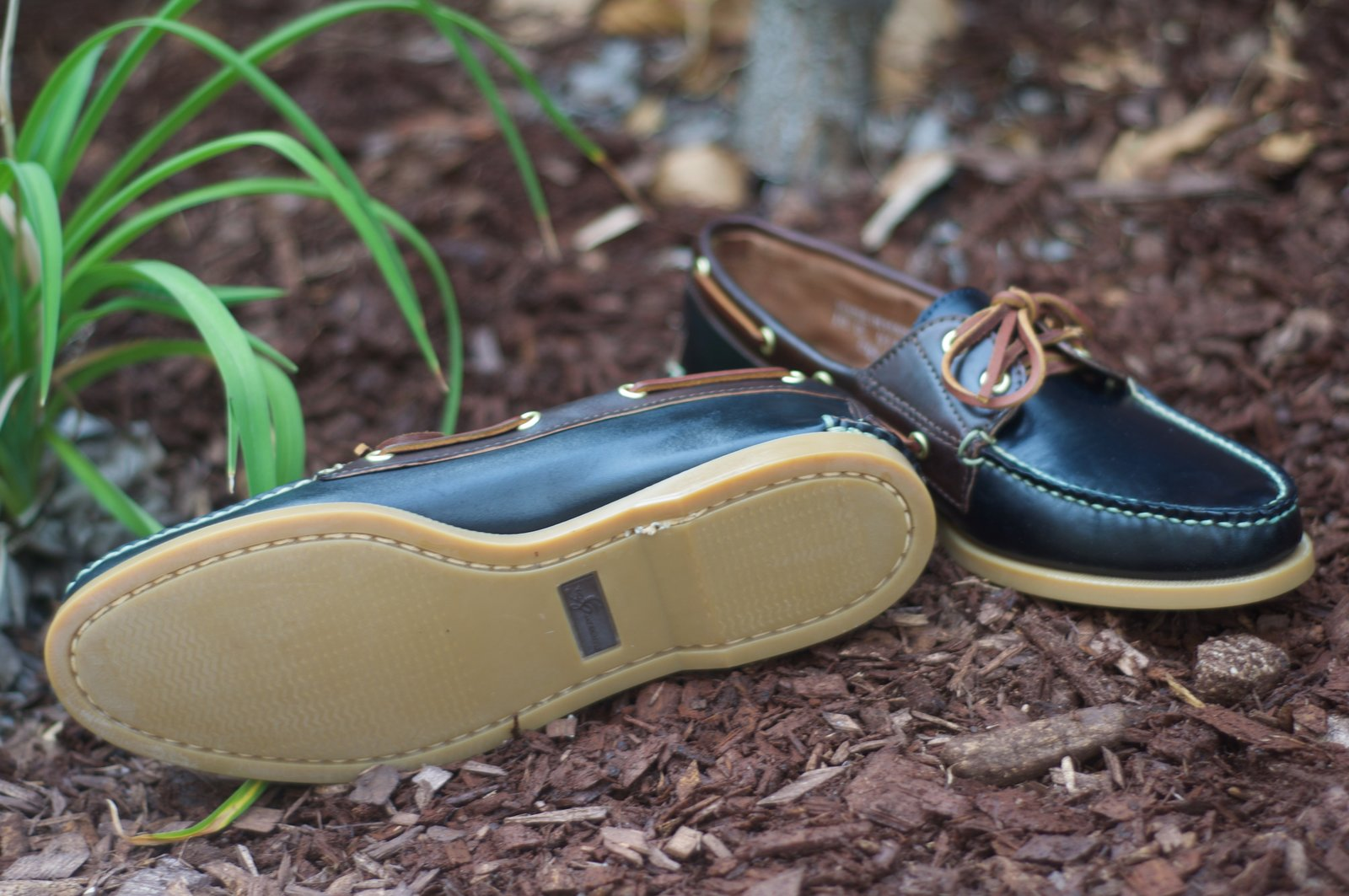 Rancourt Navy and Brown Shell Boat Shoes - 10.jpg