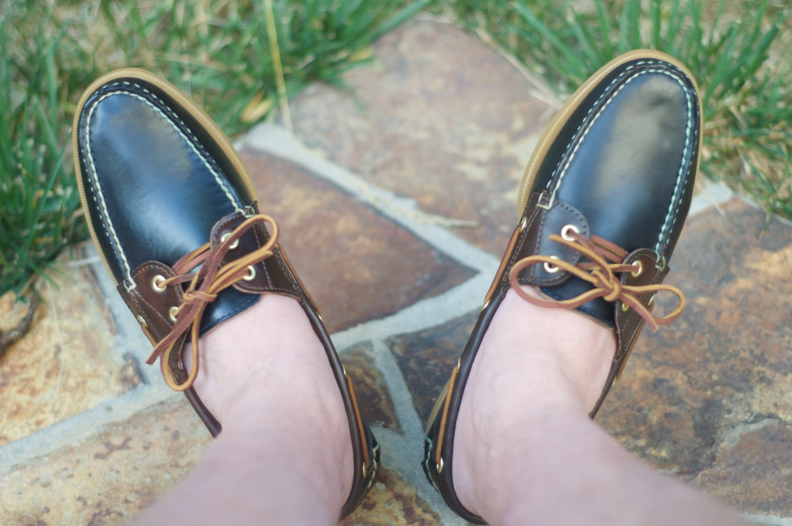 Rancourt Navy and Brown Shell Boat Shoes - 21.jpg