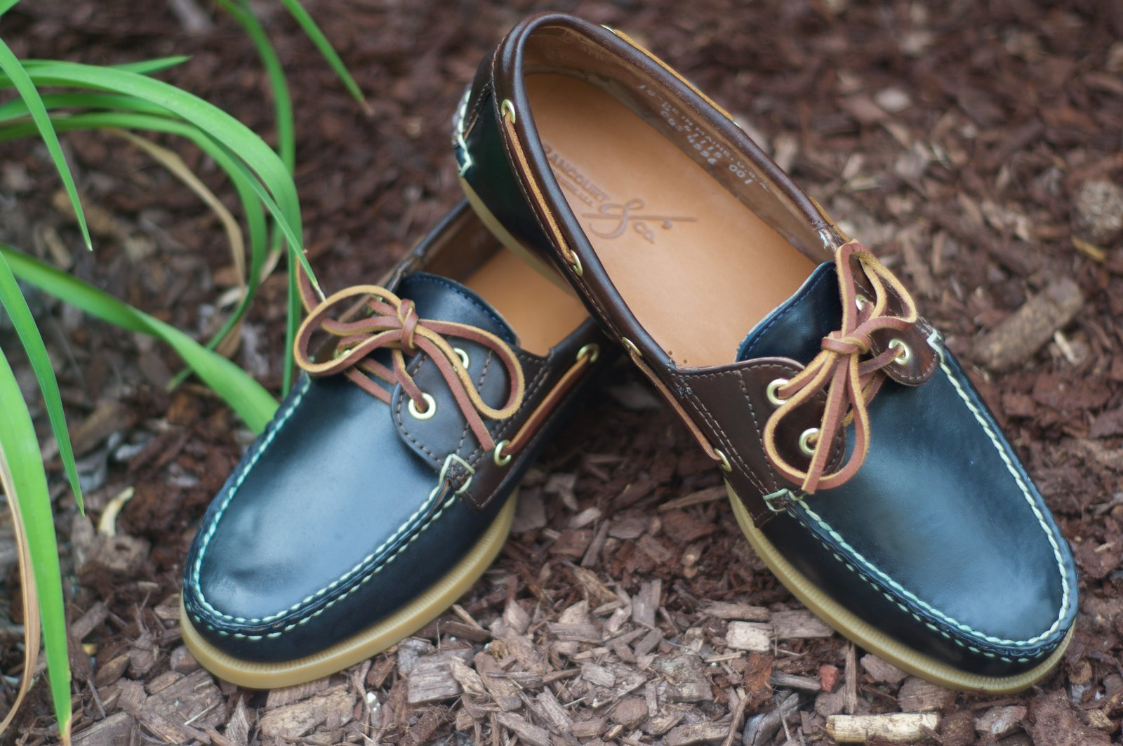Rancourt Navy and Brown Shell Boat Shoes - 7.jpg