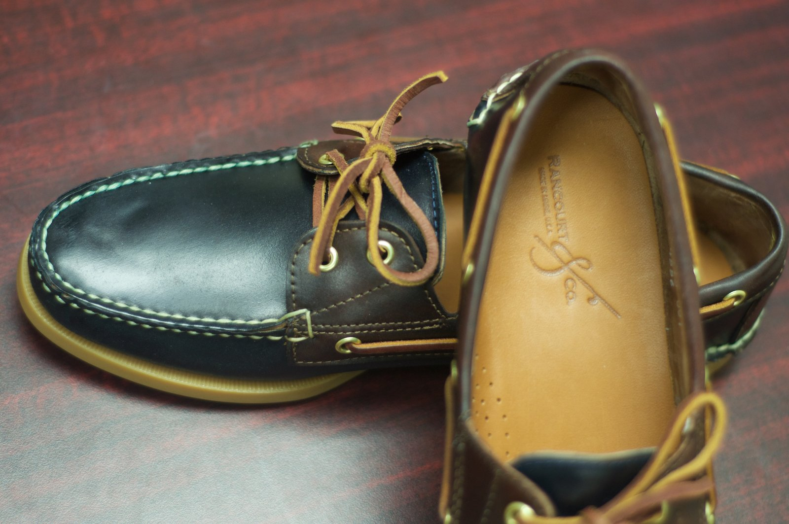 Rancourt Navy and Brown Shell Cordovan Boat Shoes - 16.jpg