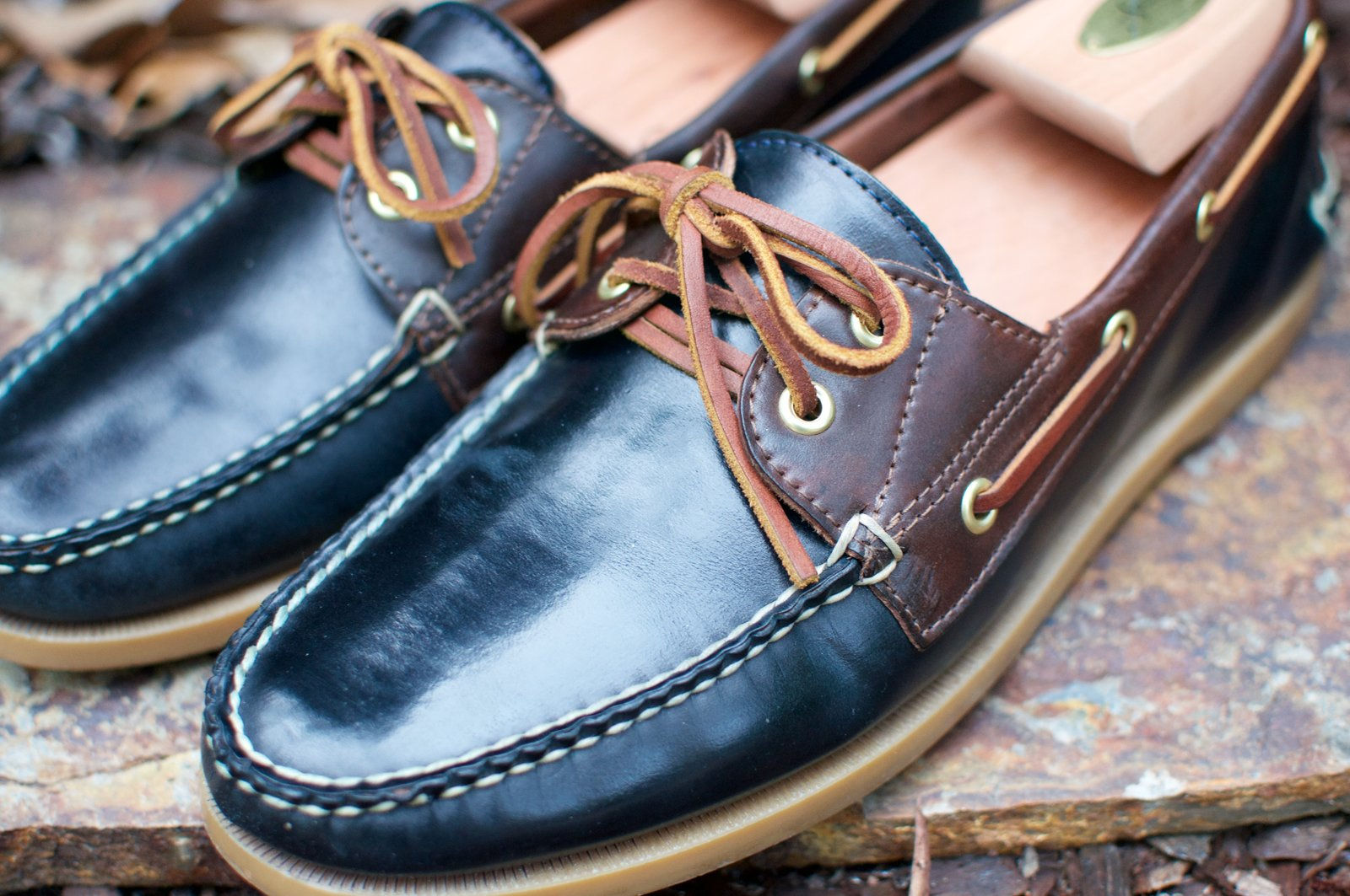 Rancourt Navy and Brown Shell Cordovan Boat Shoes - 2020-07-31 - 2.jpg