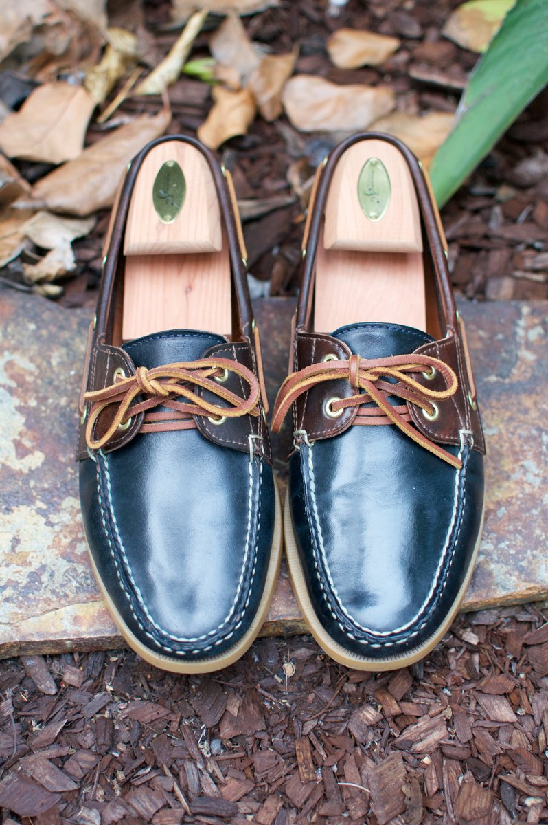 Rancourt Navy and Brown Shell Cordovan Boat Shoes - 2020-07-31 - 3.jpg