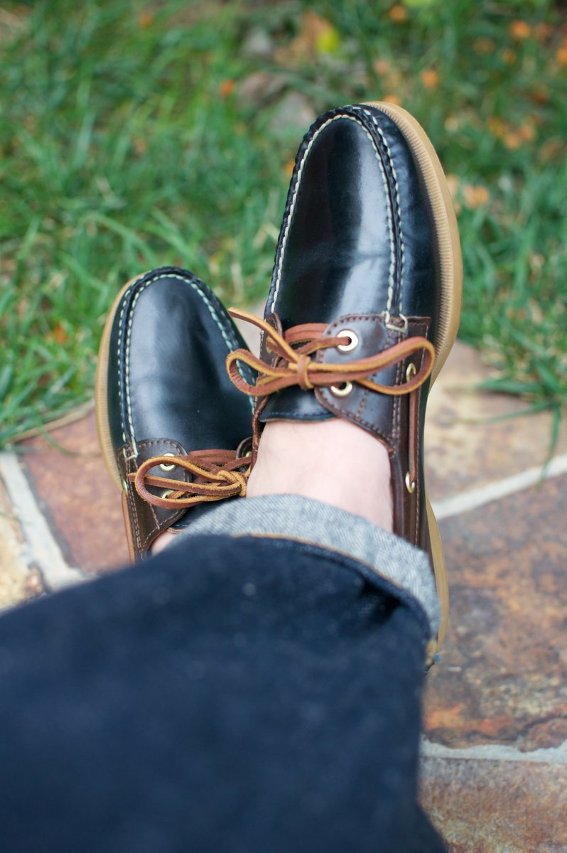 Rancourt Navy and Brown Shell Cordovan Boat Shoes - 2020-07-31 - 5.jpg