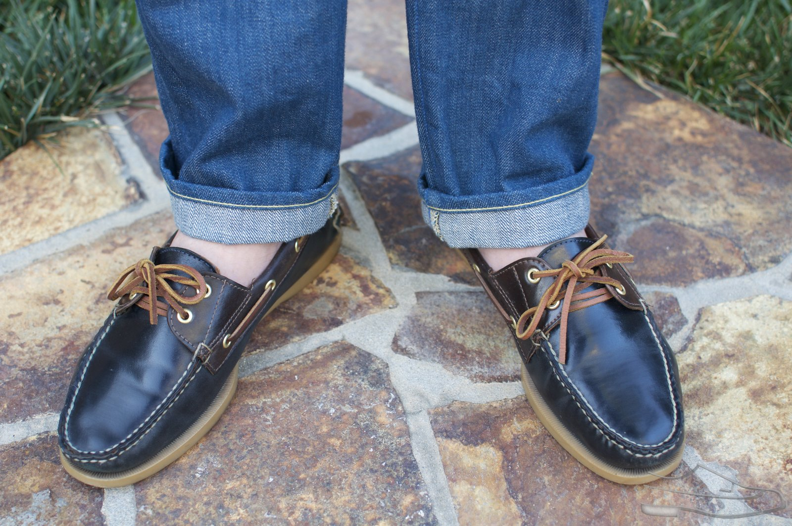 Rancourt Navy and Brown Shell Cordovan Boat Shoes - 2021-07-10 - 12.jpg