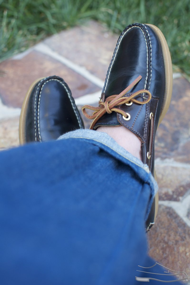 Rancourt Navy and Brown Shell Cordovan Boat Shoes - 2021-07-10 - 6.jpg