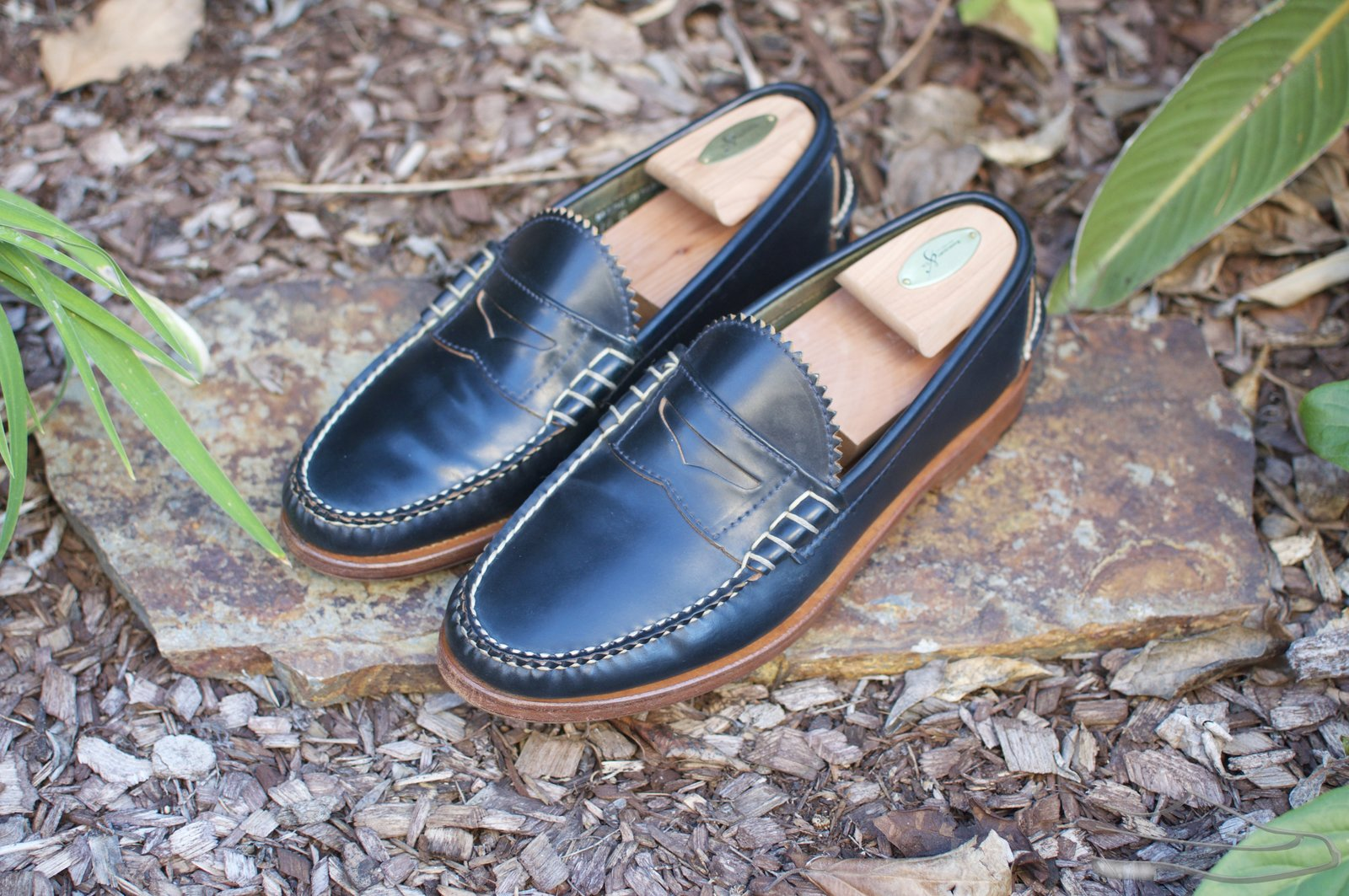 Rancourt Navy Shell Cordovan Beef-Roll Loafers - 2021-04-29 - 1.jpg
