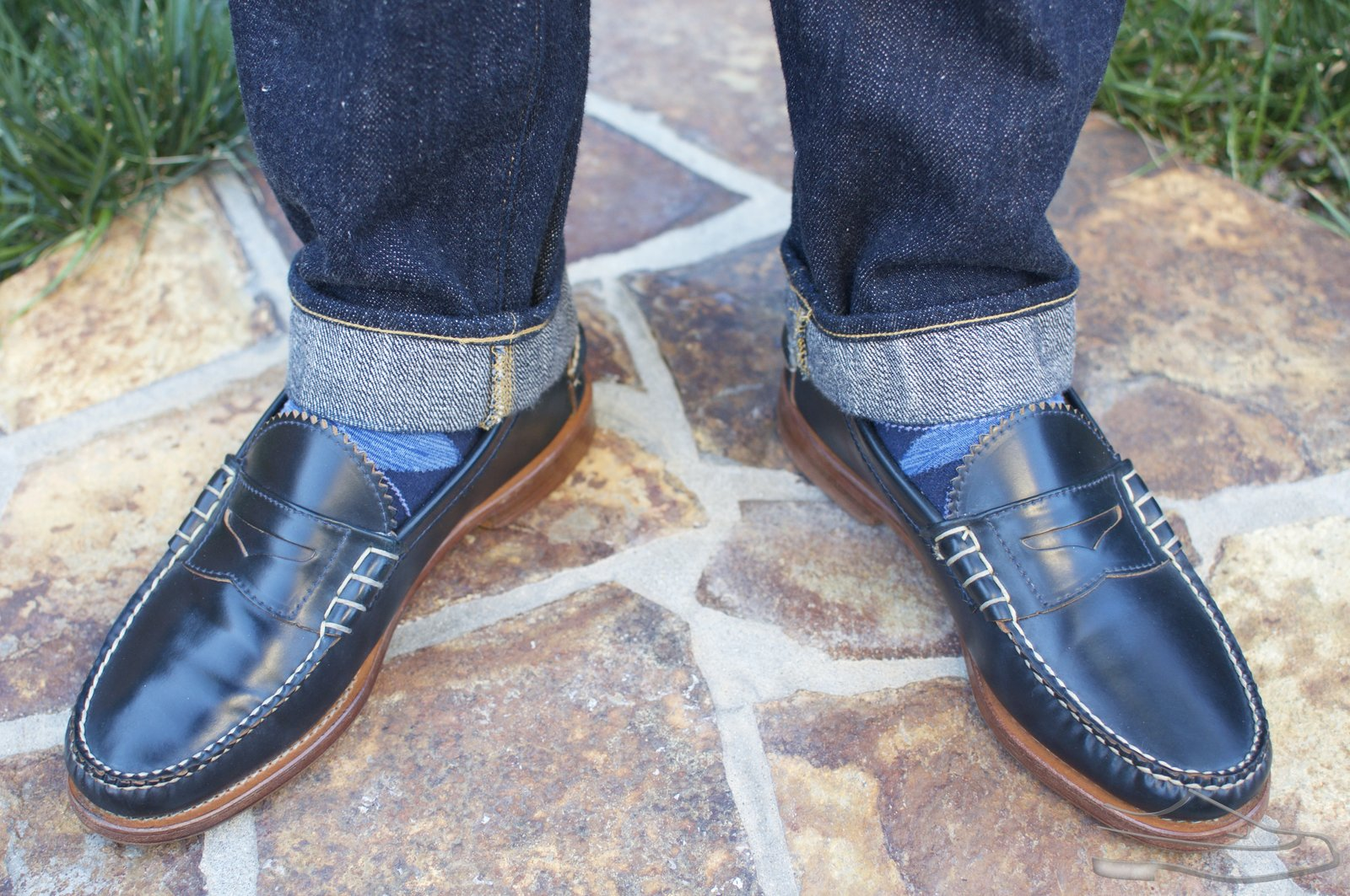 Rancourt Navy Shell Cordovan Beef-Roll Loafers - 2021-04-29 - 12.jpg