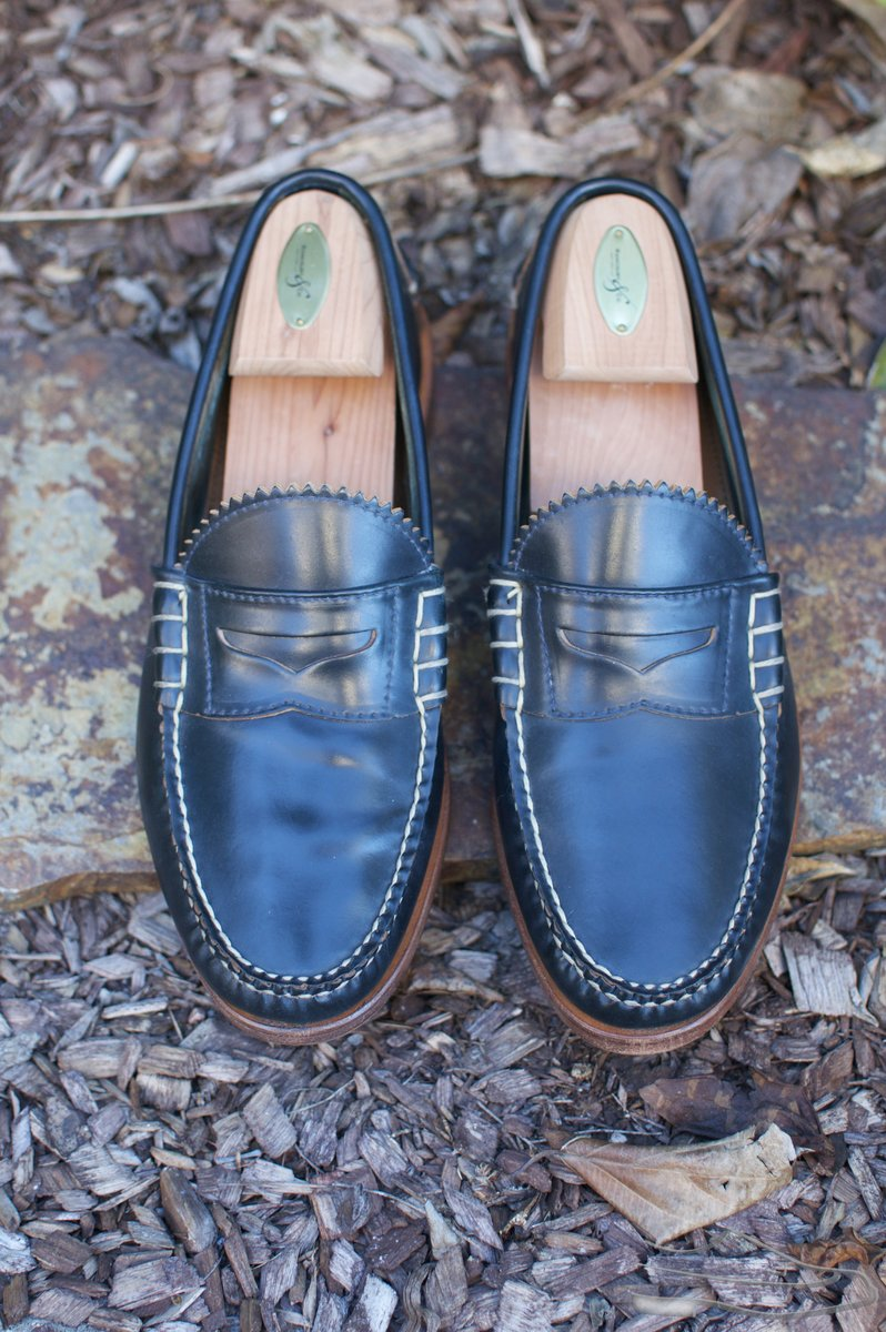 Rancourt Navy Shell Cordovan Beef-Roll Loafers - 2021-04-29 - 4.jpg