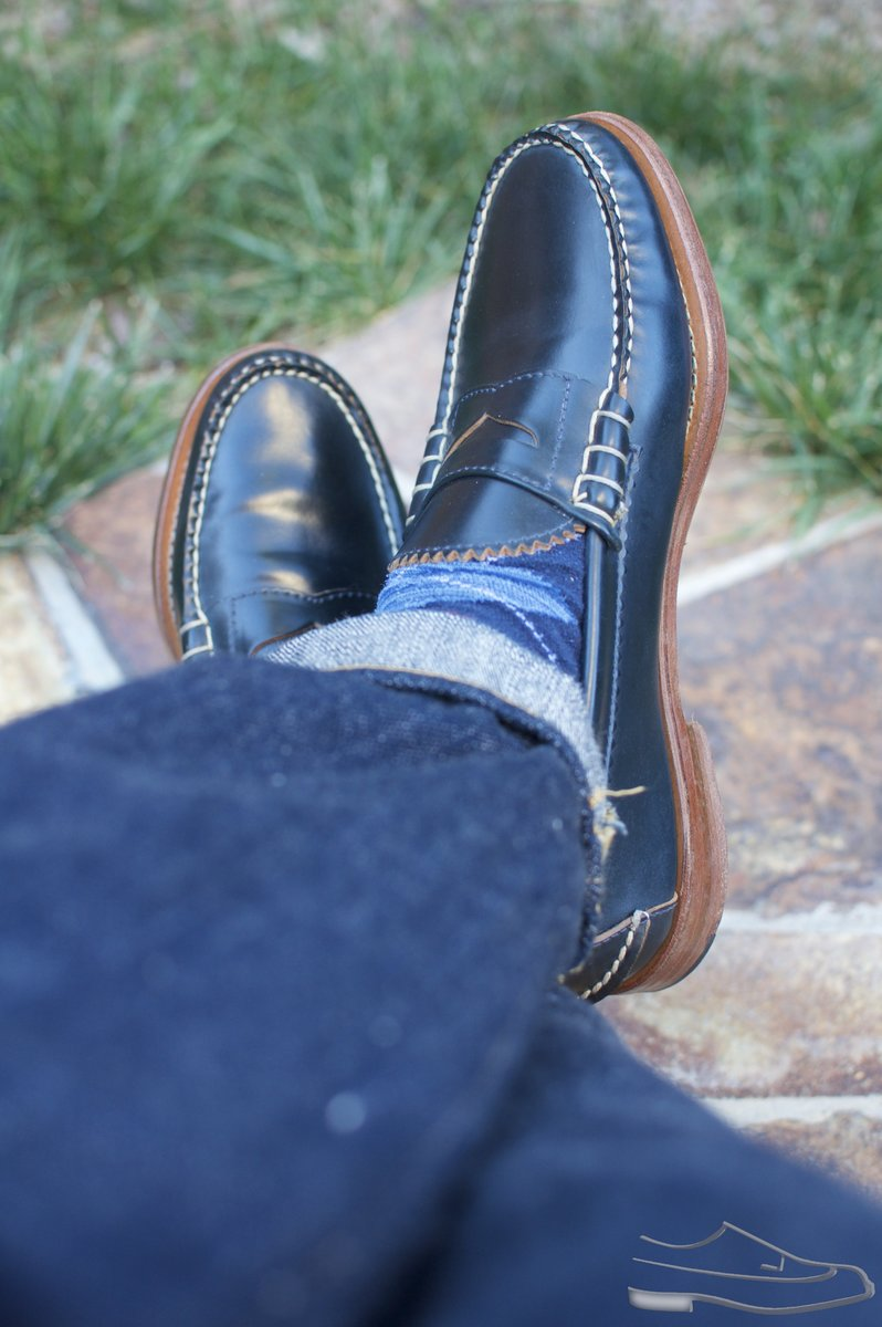 Rancourt Navy Shell Cordovan Beef-Roll Loafers - 2021-04-29 - 6.jpg