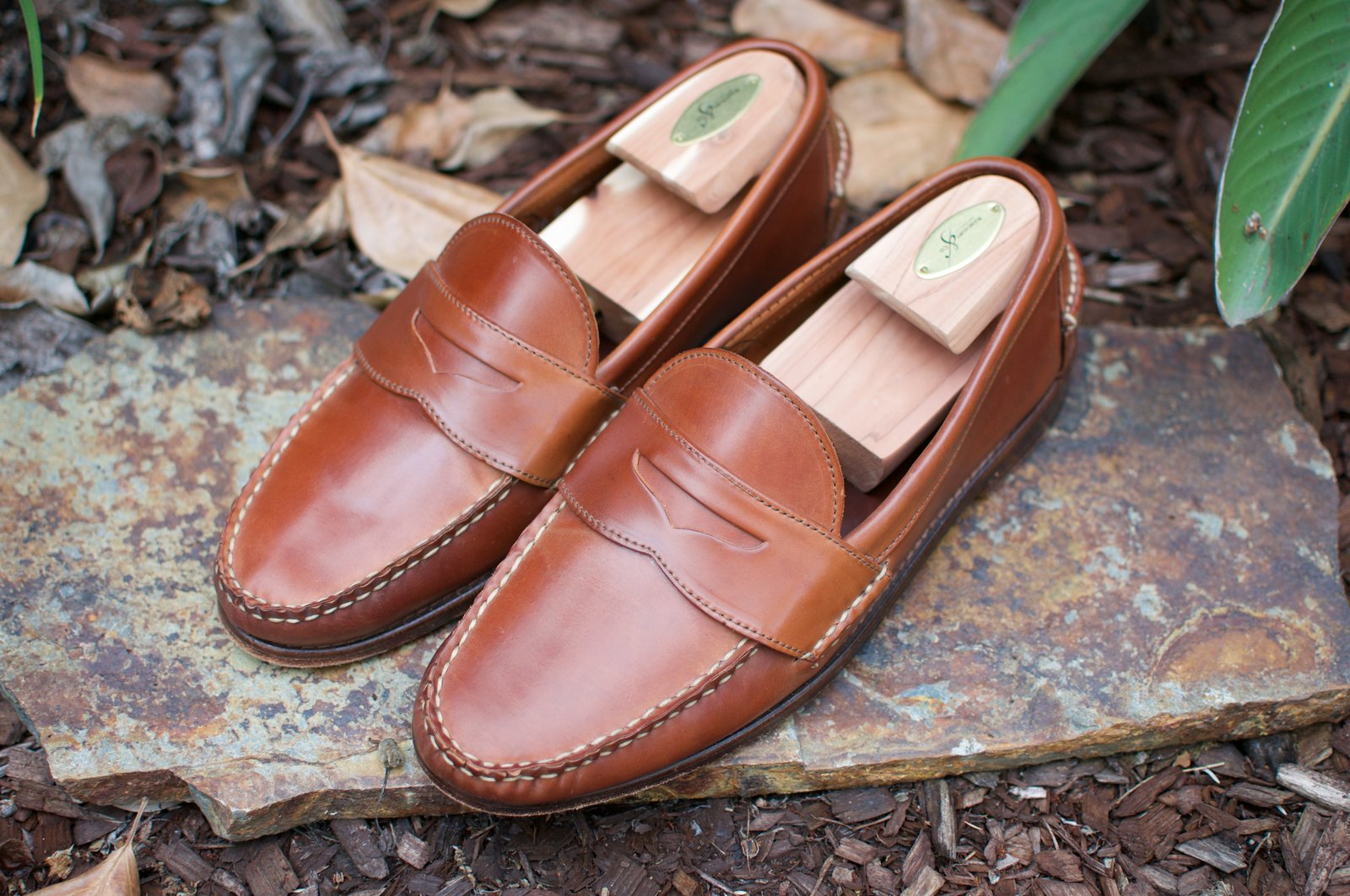 Rancourt x RL Natural Shell Cordovan Penny Pinch Loafers - 2020-07-17 - 1.jpg