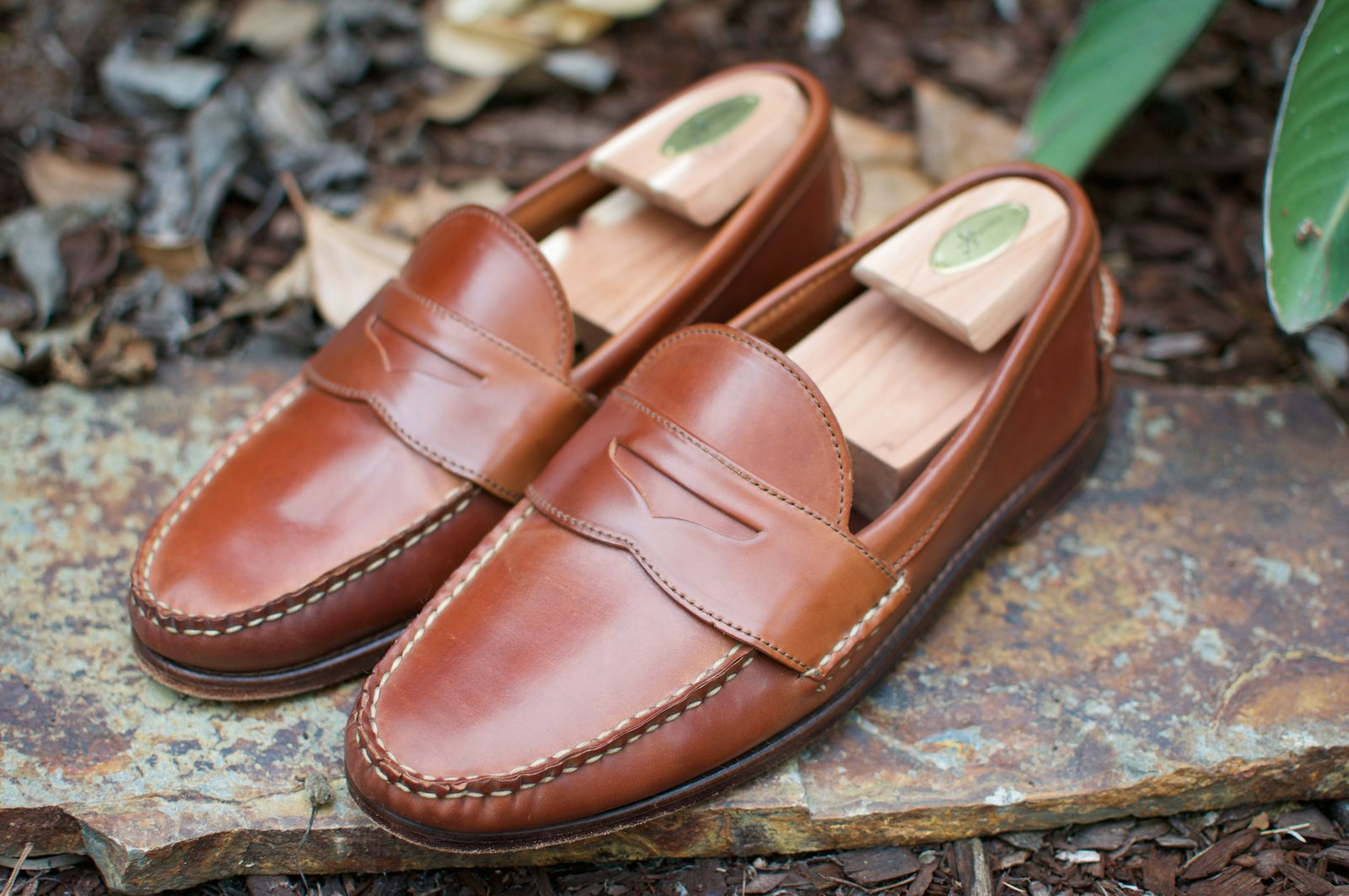 Rancourt x RL Natural Shell Cordovan Penny Pinch Loafers - 2020-07-17 - 2.jpg