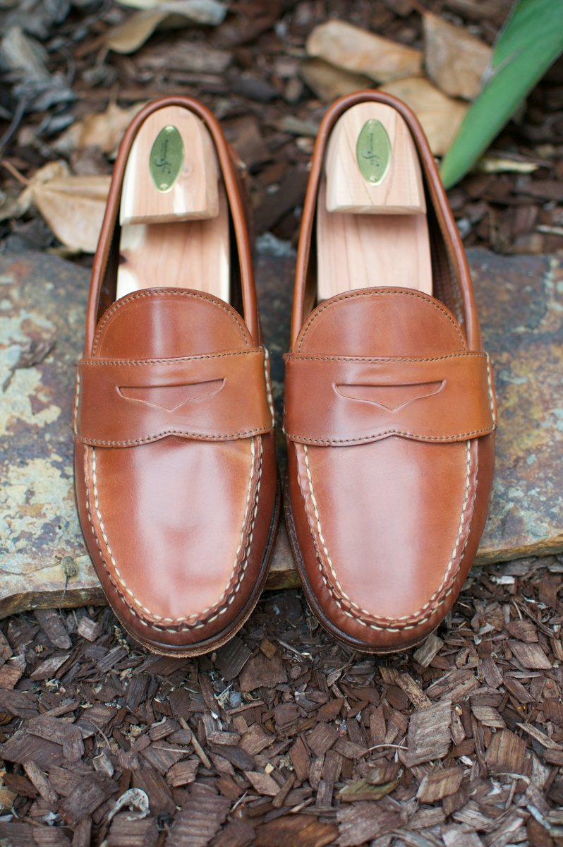 Rancourt x RL Natural Shell Cordovan Penny Pinch Loafers - 2020-07-17 - 3.jpg