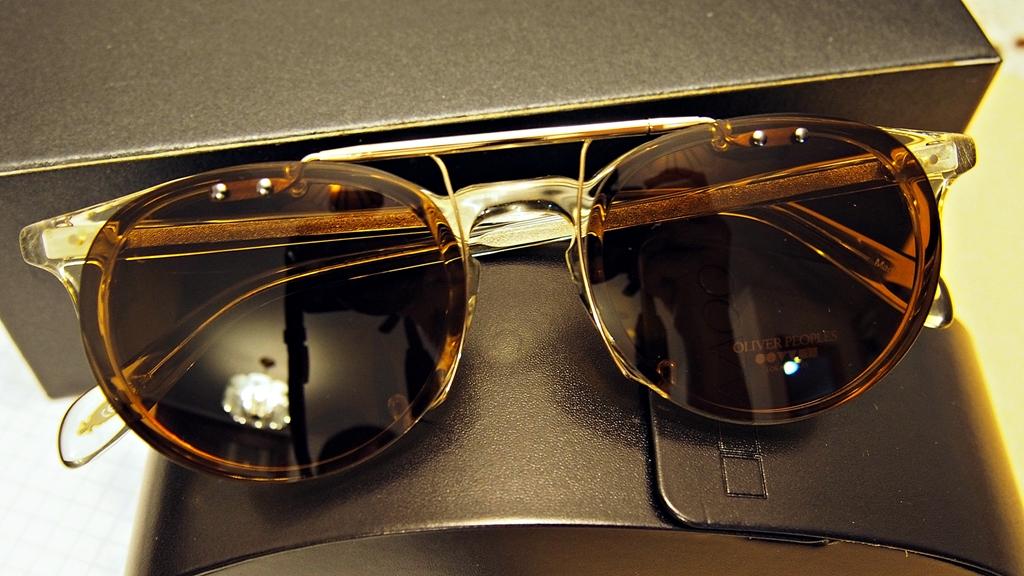 4ca871df50 NIB Oliver Peoples Riley 48 Eyeglasses + Clip-on Sunglasses