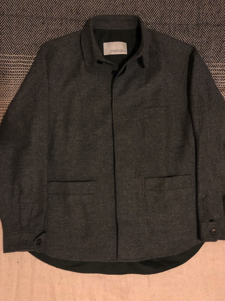 S.E.H. Kelly grey wool overshirt in Size XL.jpg