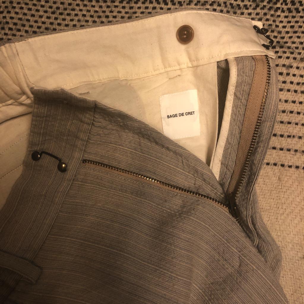 Sage de Cret wool:rayon easy shorts in beige in size L_2.jpg
