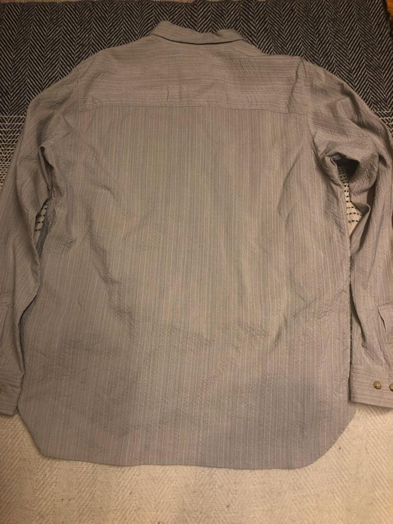 Sage de Cret wool:rayon half-button shirt in beige in size L_3.jpg