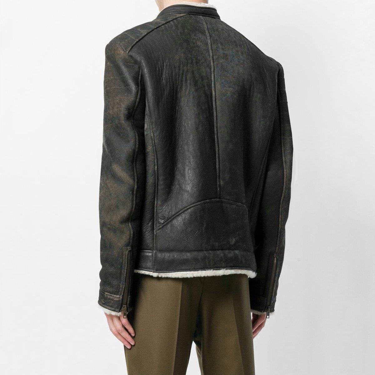 salvatore-santoro-Brown-Shearling-Fitted-Coat (3).jpg