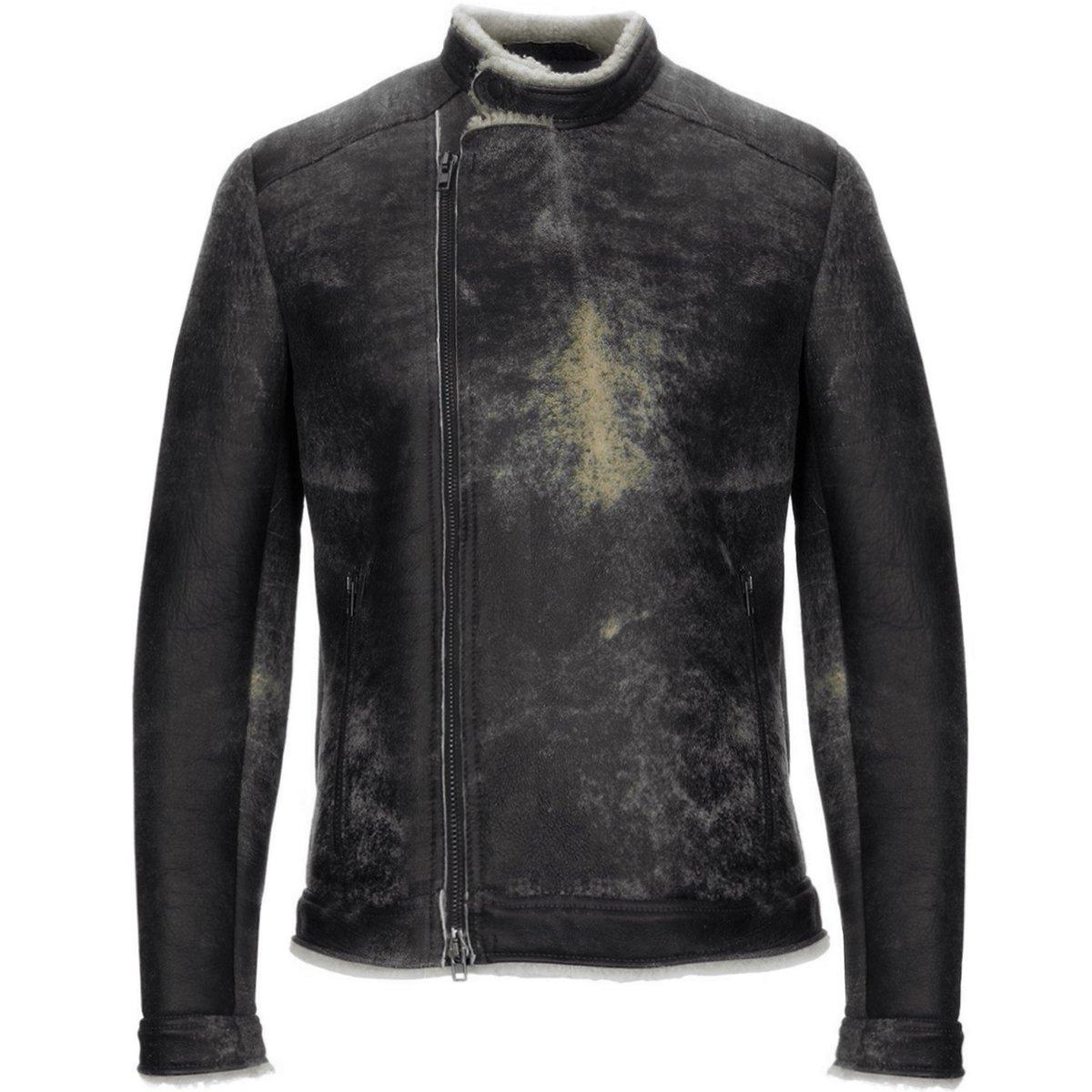 Salvatore Santoro Brown Shearling Jacket Biker copy.jpg