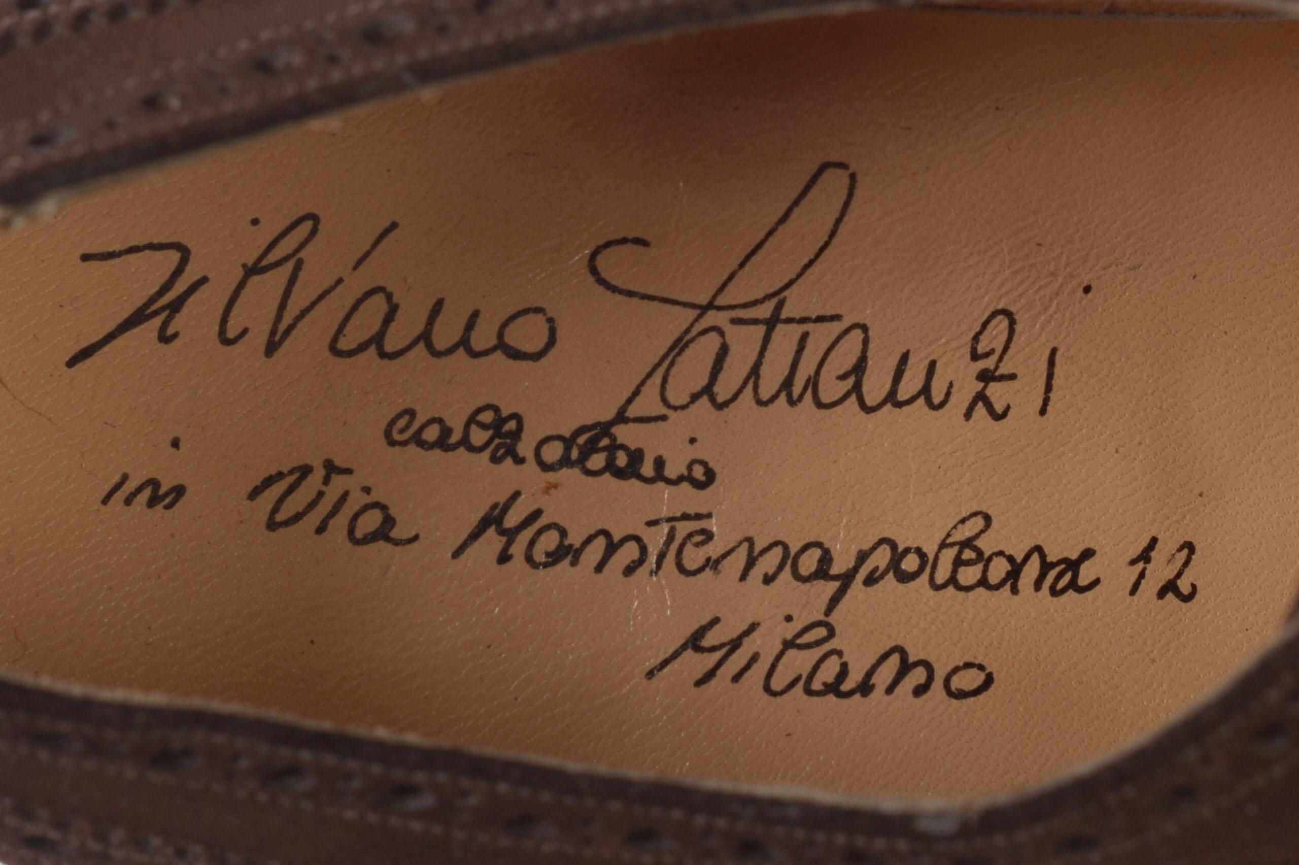 "SILVANO LATTANZI ""MG"" Brown Suede Brogue Wing Tip Oxford Dress Shoes NEW 8.500004.jpg"