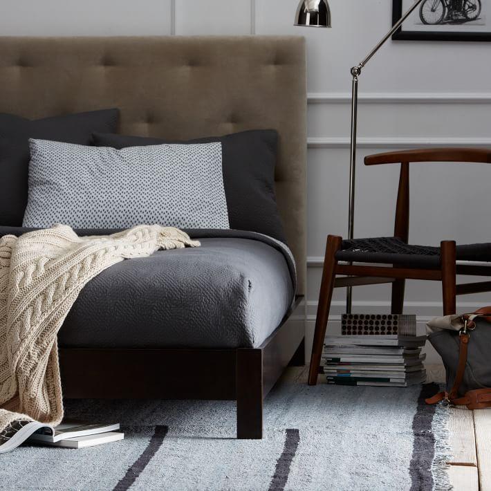 Simple Low Bed Frame Chocolate O Jpg