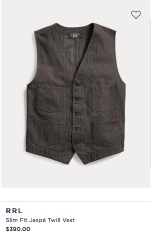 Slim Fit Jaspé Twill Vest $390.png