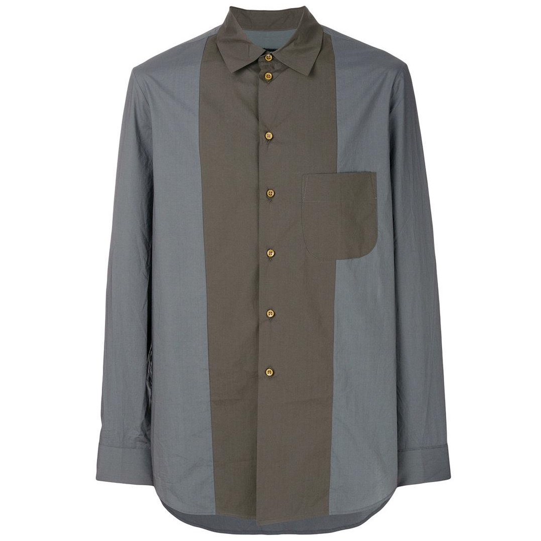 uma-wang-Green-Contrast-Fitted-Shirt.jpg