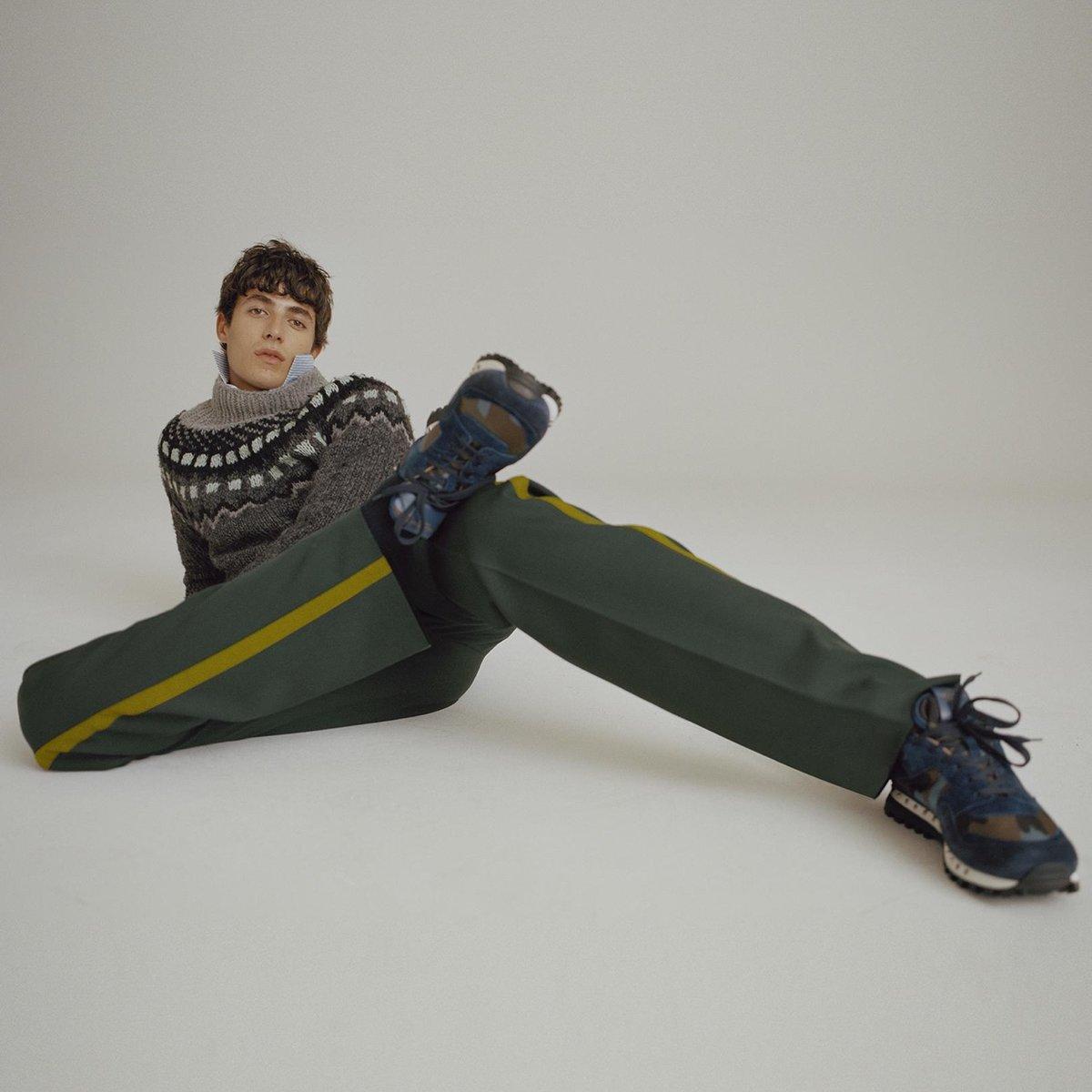 valentino-GREY-Funnel-neck-Geometric-intarsia-Sweater (2).jpg