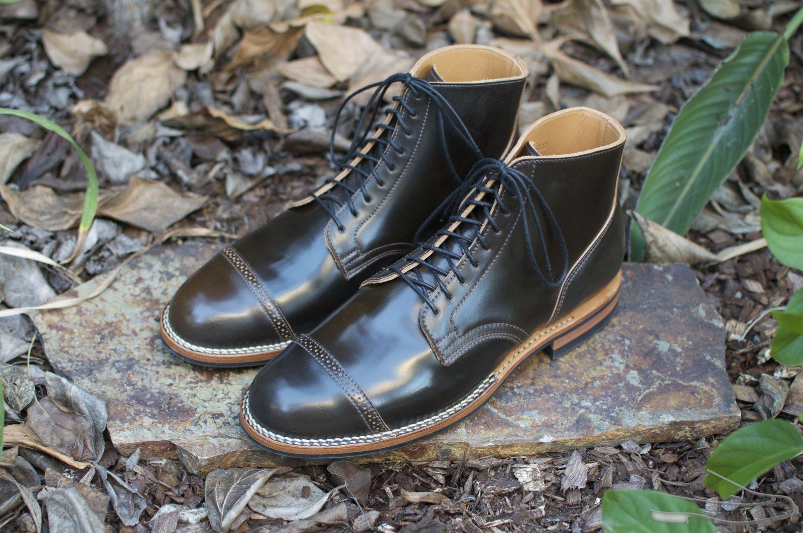 Viberg Dark Cognac Shell Cordovan Service Boots - 2020-10-30 - 1.jpg
