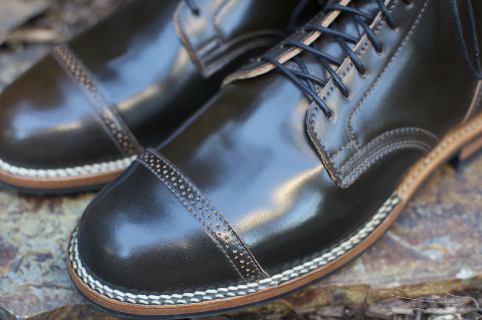 Viberg Dark Cognac Shell Cordovan Service Boots - 2020-10-30 - 2.jpg