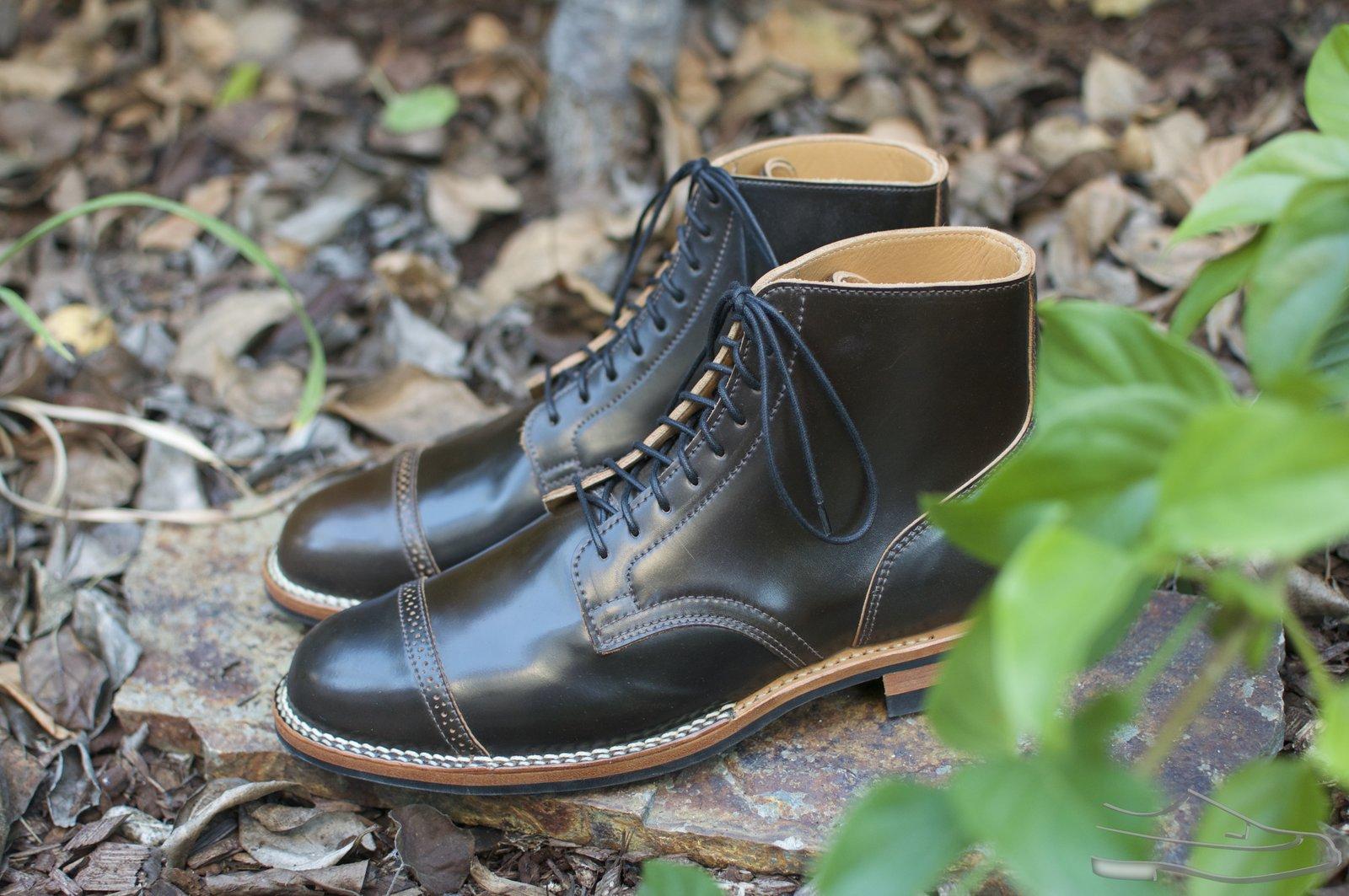 Viberg Dark Cognac Shell Cordovan Service Boots - 2020-10-30 - 3.jpg