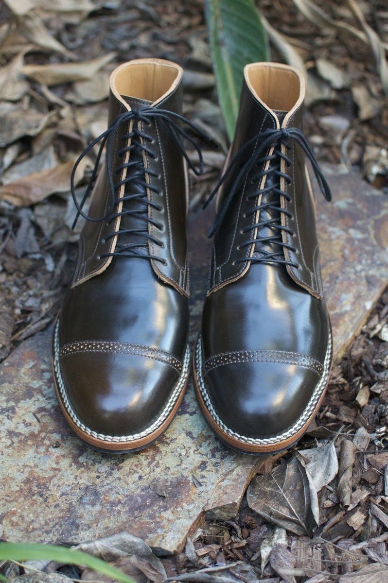 Viberg Dark Cognac Shell Cordovan Service Boots - 2020-10-30 - 4.jpg