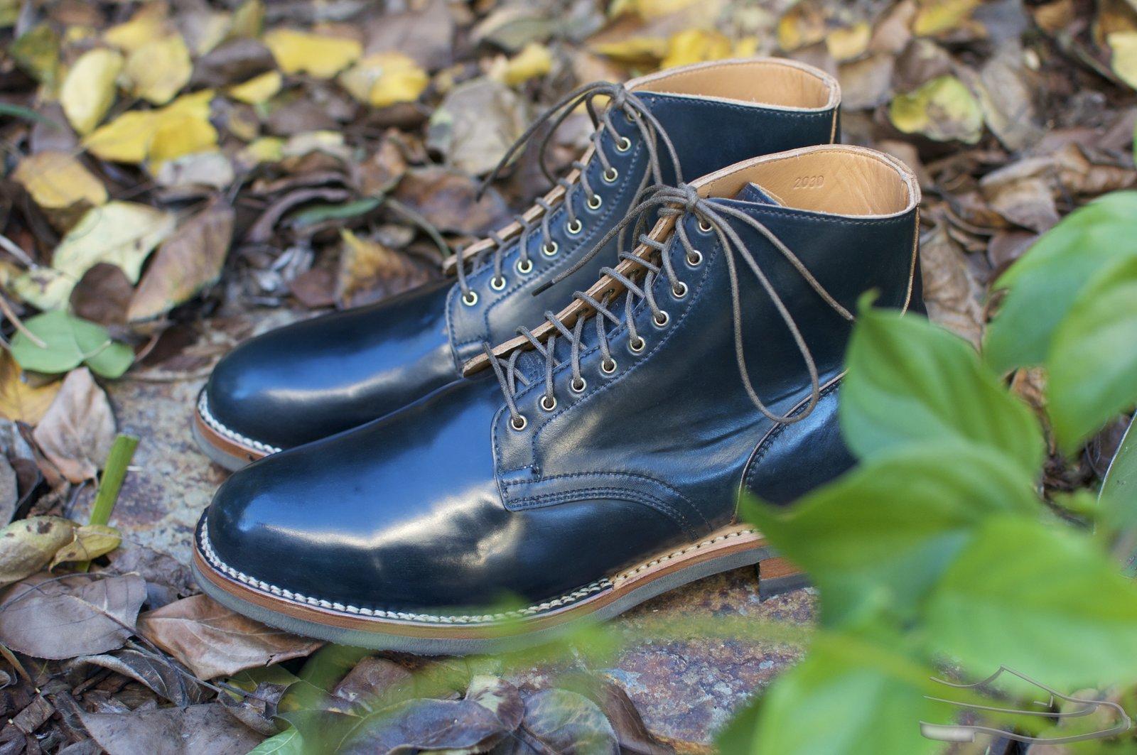 Viberg Intense Blue Shell Cordovan Service Boots - 2020-12-04 - 3.jpg