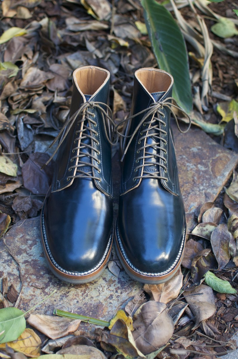 Viberg Intense Blue Shell Cordovan Service Boots - 2020-12-04 - 4.jpg