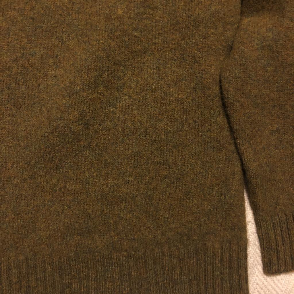 Wythe moss washed Shetland saddle shoulder sweater in size XL.jpg