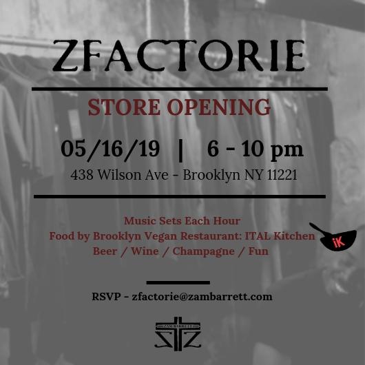 ZFACTORIE store opening invite.jpg